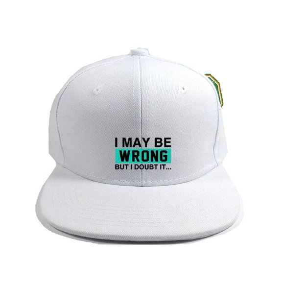 Wrong Hat Cap One Size Adjustable Snapback